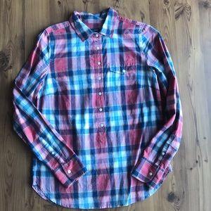 JCrew Factory Plaid Popover shirt